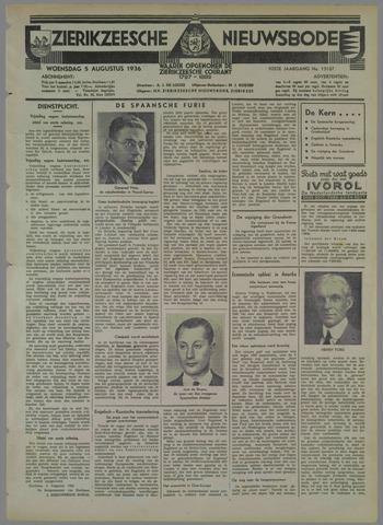 Zierikzeesche Nieuwsbode 1936-08-05