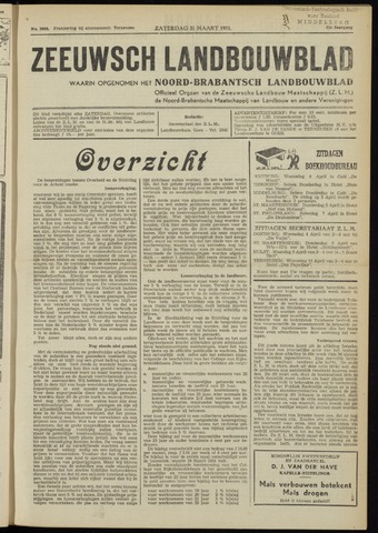 Zeeuwsch landbouwblad ... ZLM land- en tuinbouwblad 1951-03-31