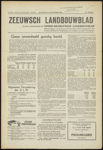 Zeeuwsch landbouwblad ... ZLM land- en tuinbouwblad 1954-12-11