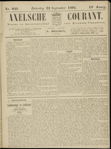 Axelsche Courant 1894-09-22