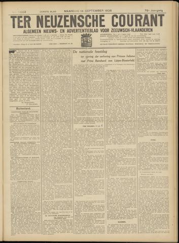 Ter Neuzensche Courant. Algemeen Nieuws- en Advertentieblad voor Zeeuwsch-Vlaanderen / Neuzensche Courant ... (idem) / (Algemeen) nieuws en advertentieblad voor Zeeuwsch-Vlaanderen 1936-09-14