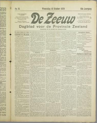 De Zeeuw. Christelijk-historisch nieuwsblad voor Zeeland 1929-10-16