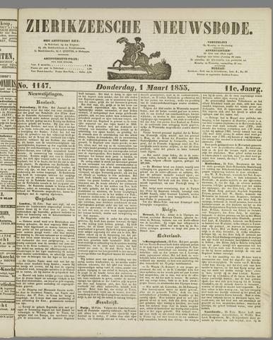 Zierikzeesche Nieuwsbode 1855-03-01