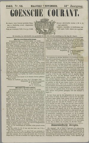 Goessche Courant 1864-11-07