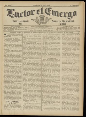 Luctor et Emergo. Antirevolutionair nieuws- en advertentieblad voor Zeeland / Zeeuwsch-Vlaanderen. Orgaan ter verspreiding van de christelijke beginselen in Zeeuwsch-Vlaanderen 1915-04-08