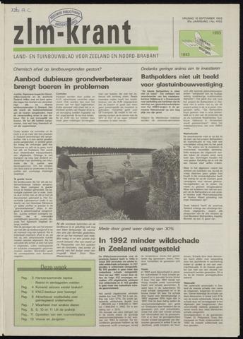 Zeeuwsch landbouwblad ... ZLM land- en tuinbouwblad 1993-09-10