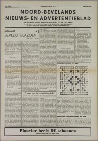 Noord-Bevelands Nieuws- en advertentieblad 1971-07-15