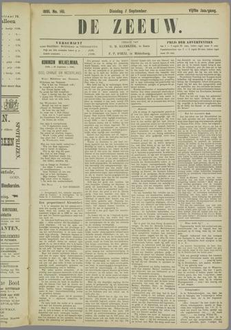 De Zeeuw. Christelijk-historisch nieuwsblad voor Zeeland 1891-09-01