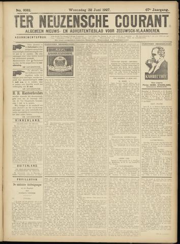 Ter Neuzensche Courant. Algemeen Nieuws- en Advertentieblad voor Zeeuwsch-Vlaanderen / Neuzensche Courant ... (idem) / (Algemeen) nieuws en advertentieblad voor Zeeuwsch-Vlaanderen 1927-06-22