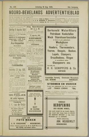 Noord-Bevelands Nieuws- en advertentieblad 1928-08-18