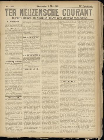 Ter Neuzensche Courant. Algemeen Nieuws- en Advertentieblad voor Zeeuwsch-Vlaanderen / Neuzensche Courant ... (idem) / (Algemeen) nieuws en advertentieblad voor Zeeuwsch-Vlaanderen 1923-05-09
