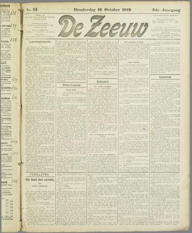 De Zeeuw. Christelijk-historisch nieuwsblad voor Zeeland 1919-10-16