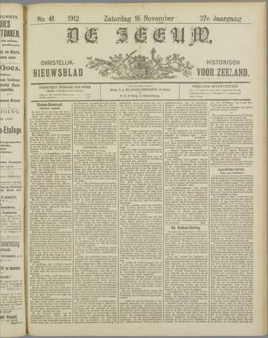 De Zeeuw. Christelijk-historisch nieuwsblad voor Zeeland 1912-11-16