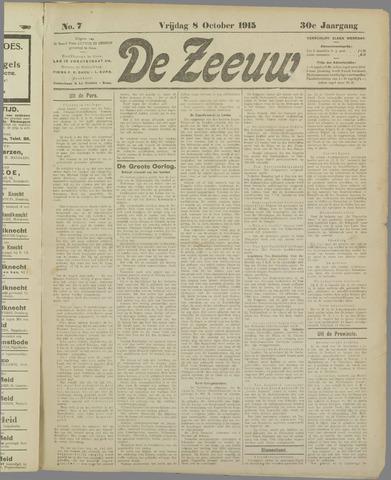 De Zeeuw. Christelijk-historisch nieuwsblad voor Zeeland 1915-10-08