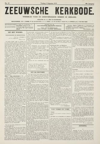 Zeeuwsche kerkbode, weekblad gewijd aan de belangen der gereformeerde kerken/ Zeeuwsch kerkblad 1935-08-09