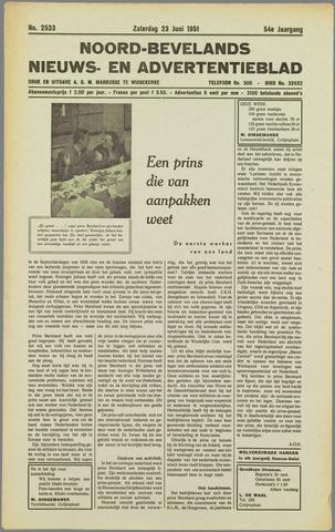 Noord-Bevelands Nieuws- en advertentieblad 1951-06-23