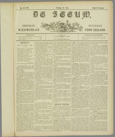 De Zeeuw. Christelijk-historisch nieuwsblad voor Zeeland 1895-06-18