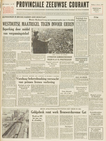 Provinciale Zeeuwse Courant 1964-02-04