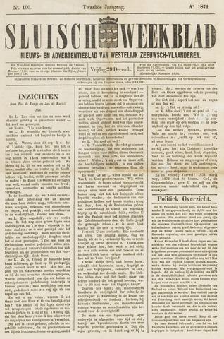 Sluisch Weekblad. Nieuws- en advertentieblad voor Westelijk Zeeuwsch-Vlaanderen 1871-12-29