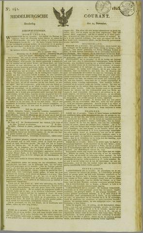 Middelburgsche Courant 1825-11-24