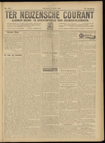 Ter Neuzensche Courant. Algemeen Nieuws- en Advertentieblad voor Zeeuwsch-Vlaanderen / Neuzensche Courant ... (idem) / (Algemeen) nieuws en advertentieblad voor Zeeuwsch-Vlaanderen 1932-06-17