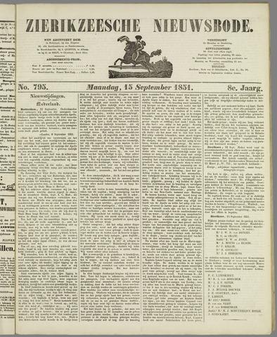 Zierikzeesche Nieuwsbode 1851-09-15