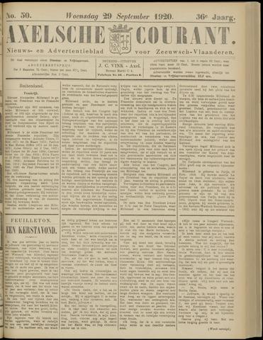 Axelsche Courant 1920-09-29