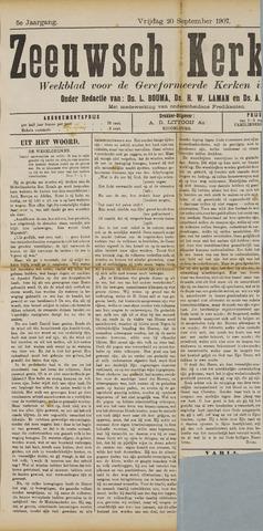 Zeeuwsche kerkbode, weekblad gewijd aan de belangen der gereformeerde kerken/ Zeeuwsch kerkblad 1907-09-20