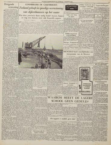 Watersnood documentatie 1953 - kranten 1953-08-01