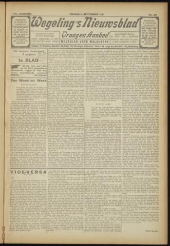 Zeeuwsch Nieuwsblad/Wegeling's Nieuwsblad 1931-09-04