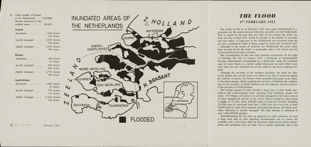 Watersnood documentatie 1953 - brochures 1953