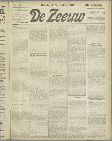 De Zeeuw. Christelijk-historisch nieuwsblad voor Zeeland 1916-11-07