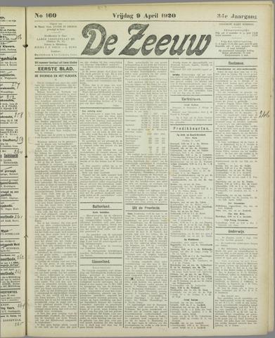 De Zeeuw. Christelijk-historisch nieuwsblad voor Zeeland 1920-04-09