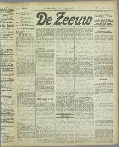 De Zeeuw. Christelijk-historisch nieuwsblad voor Zeeland 1919-09-24