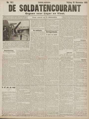 De Soldatencourant. Orgaan voor Leger en Vloot 1915-11-19