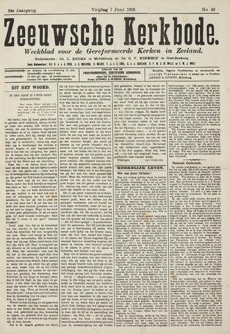 Zeeuwsche kerkbode, weekblad gewijd aan de belangen der gereformeerde kerken/ Zeeuwsch kerkblad 1918-06-07