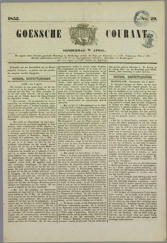 Goessche Courant 1852-04-08