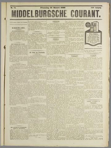 Middelburgsche Courant 1925-03-31