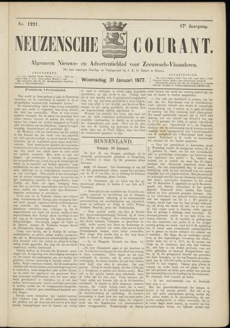 Ter Neuzensche Courant. Algemeen Nieuws- en Advertentieblad voor Zeeuwsch-Vlaanderen / Neuzensche Courant ... (idem) / (Algemeen) nieuws en advertentieblad voor Zeeuwsch-Vlaanderen 1877-01-31
