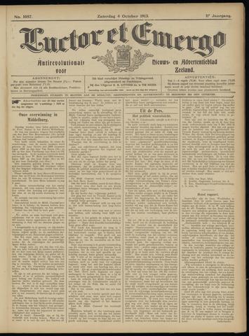 Luctor et Emergo. Antirevolutionair nieuws- en advertentieblad voor Zeeland / Zeeuwsch-Vlaanderen. Orgaan ter verspreiding van de christelijke beginselen in Zeeuwsch-Vlaanderen 1913-10-04