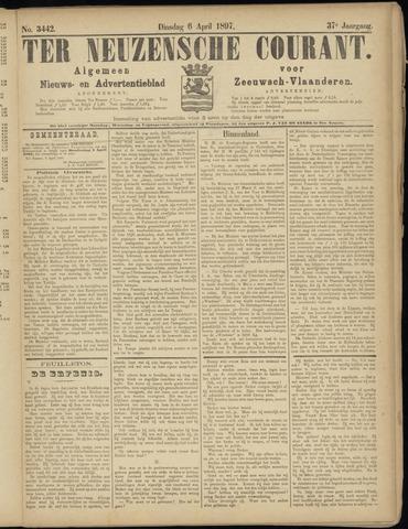 Ter Neuzensche Courant. Algemeen Nieuws- en Advertentieblad voor Zeeuwsch-Vlaanderen / Neuzensche Courant ... (idem) / (Algemeen) nieuws en advertentieblad voor Zeeuwsch-Vlaanderen 1897-04-06