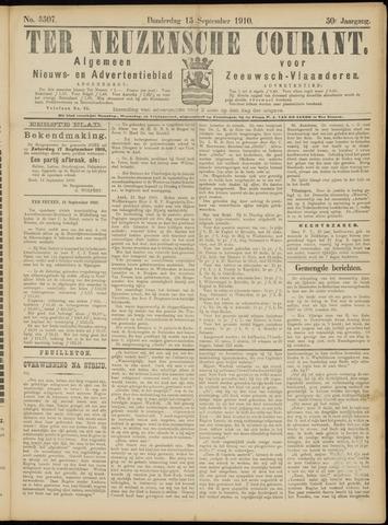 Ter Neuzensche Courant. Algemeen Nieuws- en Advertentieblad voor Zeeuwsch-Vlaanderen / Neuzensche Courant ... (idem) / (Algemeen) nieuws en advertentieblad voor Zeeuwsch-Vlaanderen 1910-09-15