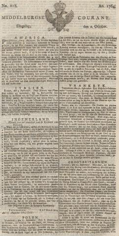 Middelburgsche Courant 1764-10-02