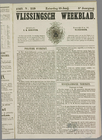 Vlissings Weekblad 1867-06-15