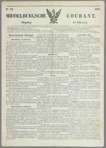 Middelburgsche Courant 1855-02-13