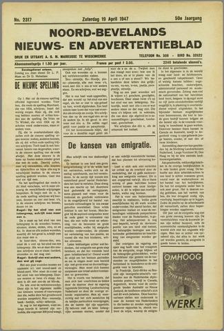 Noord-Bevelands Nieuws- en advertentieblad 1947-04-19
