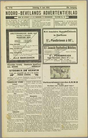 Noord-Bevelands Nieuws- en advertentieblad 1932-06-11