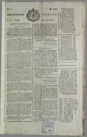 Zierikzeesche Courant 1829