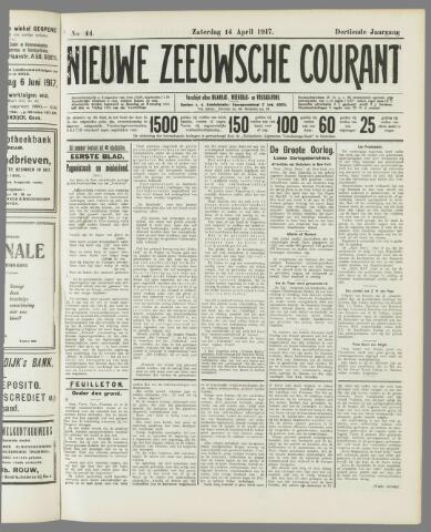 Nieuwe Zeeuwsche Courant 1917-04-14