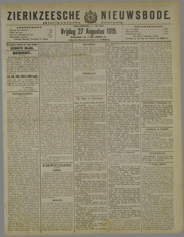 Zierikzeesche Nieuwsbode 1915-08-27